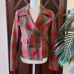 Hydraulic Plaid Jacket Size S